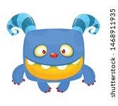 Stock vector funny bigfoot or yeti character design vector illustration 1468911935