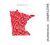 I Love Minnesota. Red And Pink...