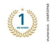 number one badge logo design... | Shutterstock .eps vector #1468920968