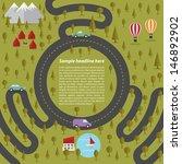 summer landscape with roads.... | Shutterstock .eps vector #146892902