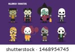 halloween cute scary monster... | Shutterstock .eps vector #1468954745