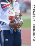 Small photo of DONETSK, UKRAINE - JULY 13: Sabrina Bakare of Great Britain win gold in 400 metres during 8th IAAF World Youth Championships in Donetsk, Ukraine on July 13, 2013