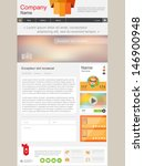 web design. page with full news.... | Shutterstock .eps vector #146900948
