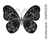 monochromatic decorative... | Shutterstock .eps vector #146901335