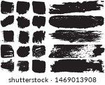 set of black brush strokes with ... | Shutterstock .eps vector #1469013908