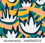 vector nature seamless pattern...   Shutterstock .eps vector #1469063225
