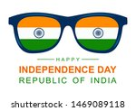 indian flag sunglasses with... | Shutterstock .eps vector #1469089118