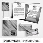 monochrome corporate identity...   Shutterstock .eps vector #1469092208