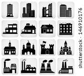 vector set of various buildings   Shutterstock .eps vector #146910176