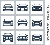 vector isolated cars icons set | Shutterstock .eps vector #146910182