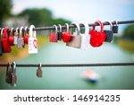 Wedding Locks On Rope Bridge
