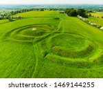 Aerial View Of The Hill Of Tara ...