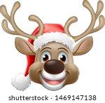 christmas reindeer red nosed... | Shutterstock .eps vector #1469147138