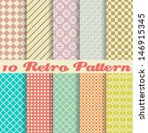 ten retro different vector... | Shutterstock .eps vector #146915345