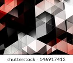 triangles vector background | Shutterstock .eps vector #146917412