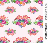 colorful floral seamless... | Shutterstock . vector #1469194478