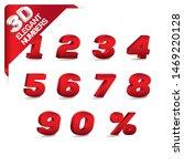 3d letters  0  1  2  3  4  5  6 ... | Shutterstock .eps vector #1469220128