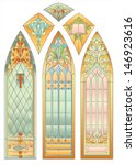 Six Mosaic Stained Glass For...