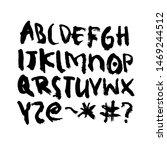 dry brush alphabet font set... | Shutterstock .eps vector #1469244512