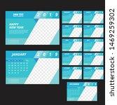 desk calendar 2019 template... | Shutterstock .eps vector #1469259302