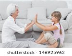Little Girl And Grandmother...