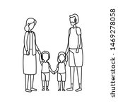 cute grandparents and family... | Shutterstock .eps vector #1469278058