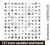 121 icons vacation and travel....