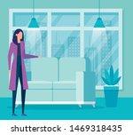 elegant businesswoman worker in ... | Shutterstock .eps vector #1469318435