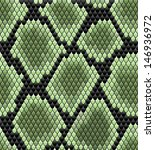Green seamless snake skin pattern for background design. Jpeg version also available in gallery - stock vector