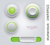 vector design elements  buttons ... | Shutterstock .eps vector #146939522