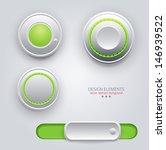 vector design elements  buttons ... | Shutterstock .eps vector #146939522