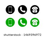 mobile phone icon on isolated... | Shutterstock .eps vector #1469396972
