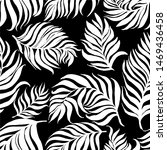 white vector pattern with palm... | Shutterstock .eps vector #1469436458