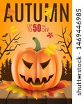 autumn sale banner with scary... | Shutterstock .eps vector #1469446985