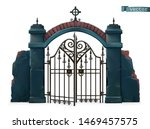 gates to the cemetery. happy... | Shutterstock .eps vector #1469457575