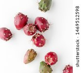Prickly Pear Fruit On A White...