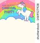 cute unicorn with rainbow... | Shutterstock .eps vector #1469527928
