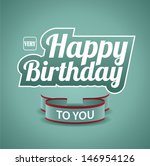 birthday card. eps 10 vector ... | Shutterstock .eps vector #146954126