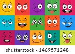 cartoon face expressions. happy ... | Shutterstock .eps vector #1469571248