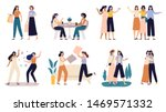 women friends. girlfriends... | Shutterstock .eps vector #1469571332