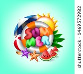 summer text with colorful...   Shutterstock .eps vector #1469572982