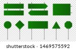 set of green road signs. blank... | Shutterstock .eps vector #1469575592