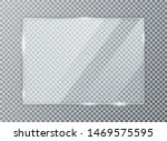 glass plate on transparent... | Shutterstock .eps vector #1469575595