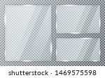 glass plates set on transparent ... | Shutterstock .eps vector #1469575598