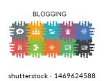 blogging  cartoon template with ...