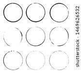 grunge circles . black round... | Shutterstock .eps vector #1469626532