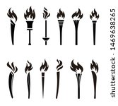 various torches icon... | Shutterstock .eps vector #1469638265