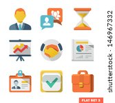 business flat icon set for web... | Shutterstock .eps vector #146967332
