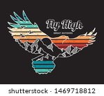 vector illustration of a flying ... | Shutterstock .eps vector #1469718812