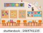 kindergarten classroom interior ...   Shutterstock .eps vector #1469741135